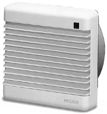 Helios Wall/Ceiling Extract Fan - HVR 150/4 E & HVR 150/2 E